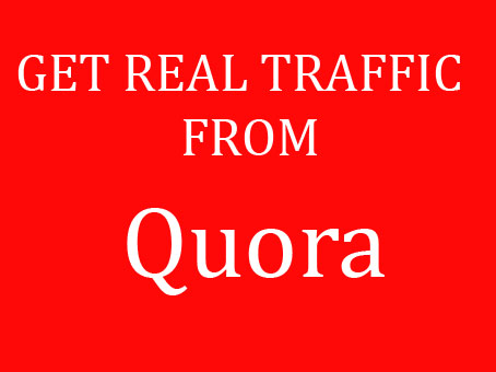 Offer targeted and organic Traffic by 10 quora answer posting