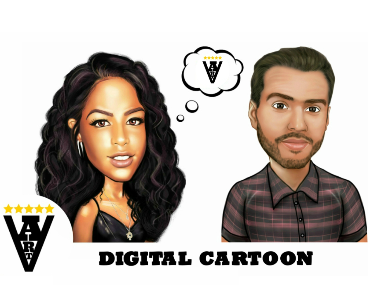 Digital Caricature or Cartoon from Photo