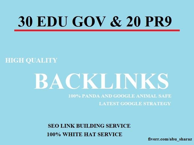 I Do Manually 30 Edu Gov And 20 Pr9 High Quality Backlinks