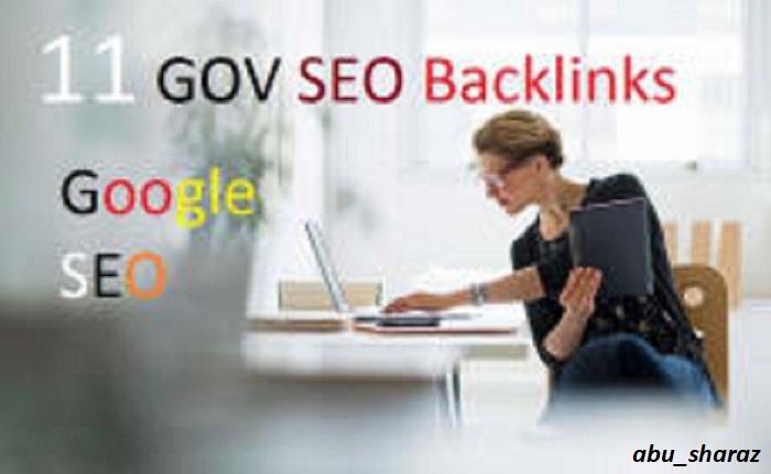 I Build 11 Gov Backlinks,  SEO