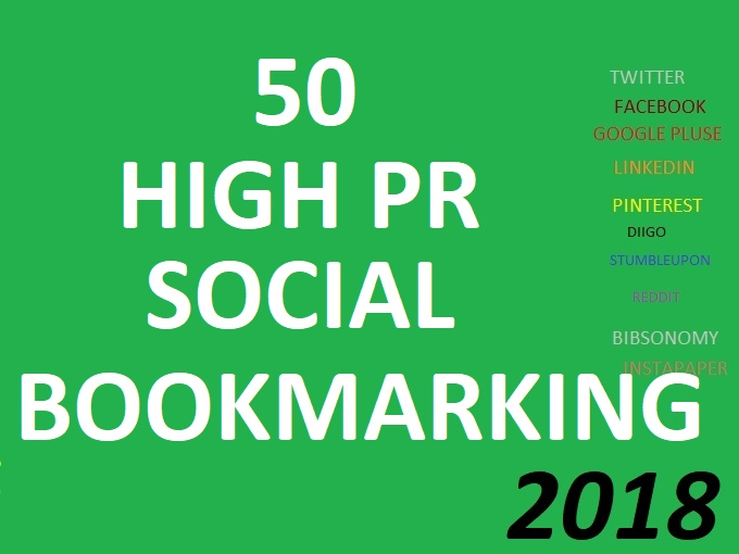 I Build 50 Manual High PR Social Bookmarks Backlinks