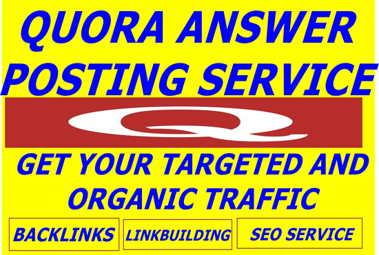 Promote your website on HQ 50 QUORA Answer with Contextual Link