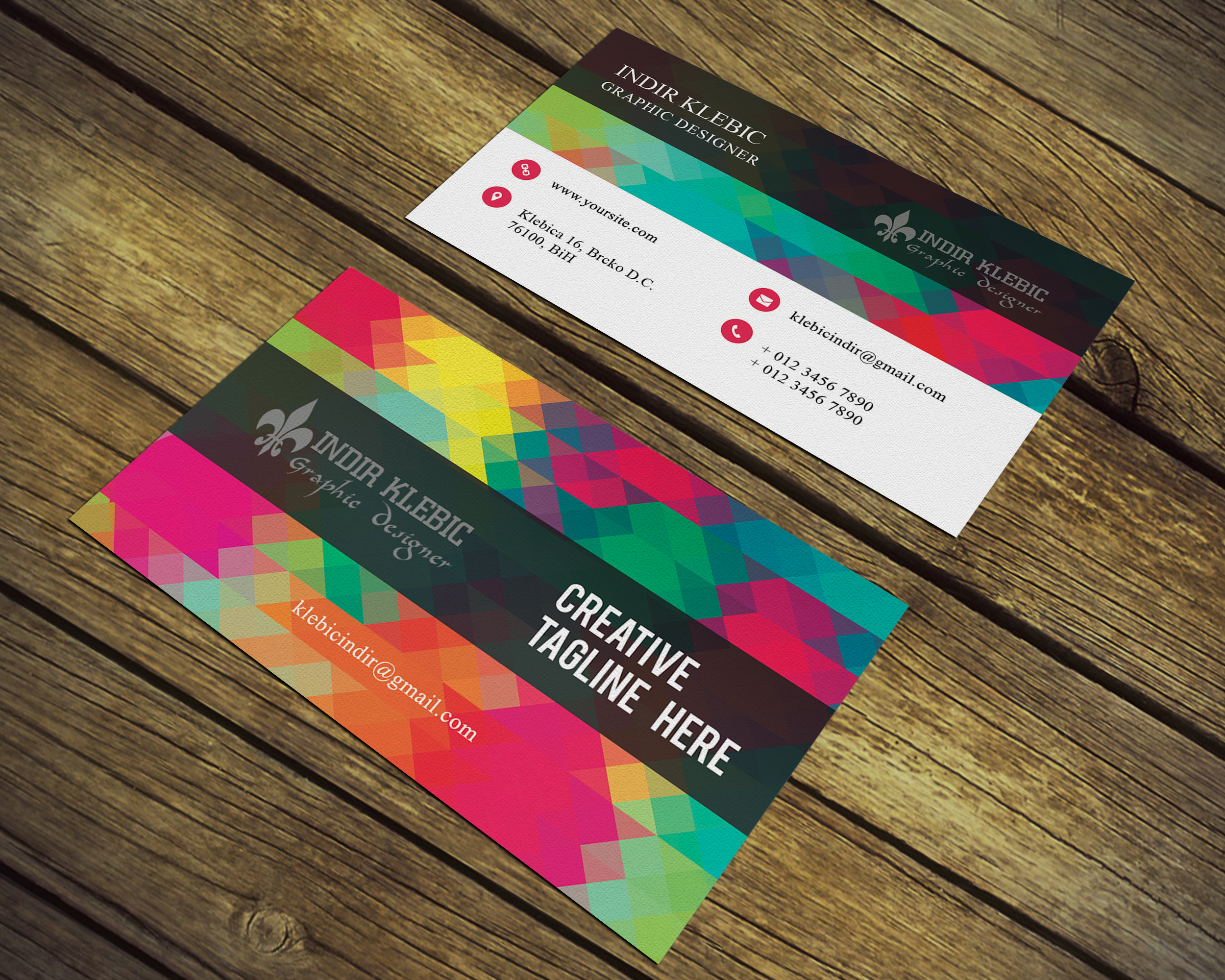 high quality design business card for 5 seoclerks