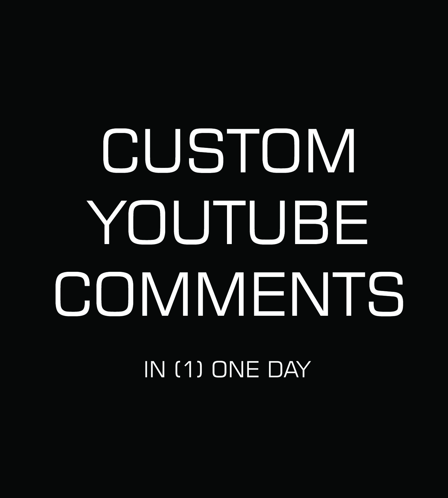 30++ custom organic YouTube comments writing