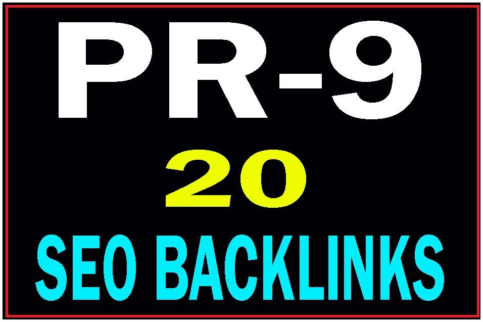 Manually Create DA 80+ 20 Pr9 safe seo high PR backlinks