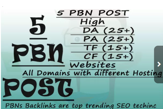 5 Pbn Post From High Da Pa And High Tf Cf Websites for $15 - SEOClerks