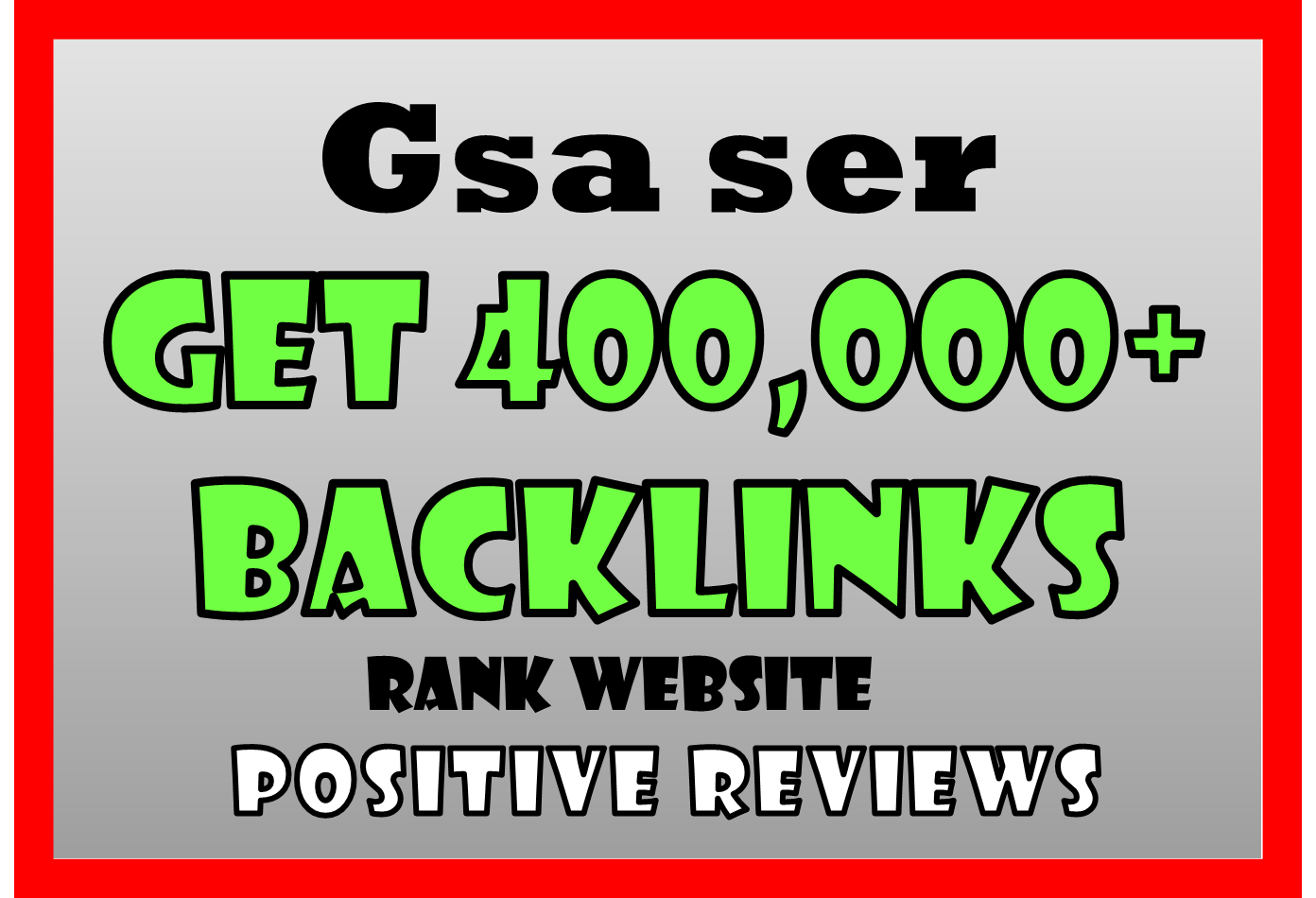 300,000 Gsa BACKLINKS HIGH Authority For SEO Ranking