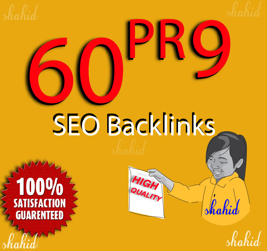 Do Manually 60 Pr9 High DA Trust Authority Backlinks