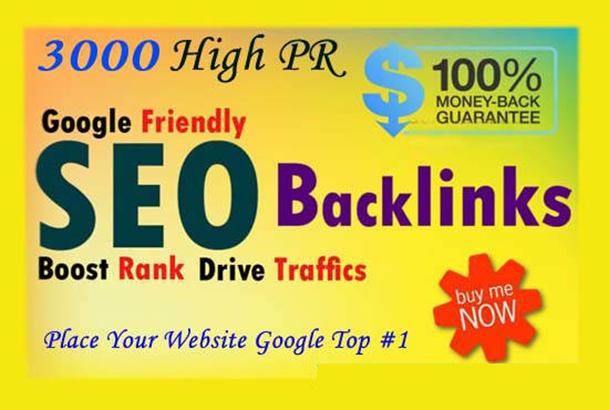 I will do 3000 Do-follow High PR4-PR7 Backlinks