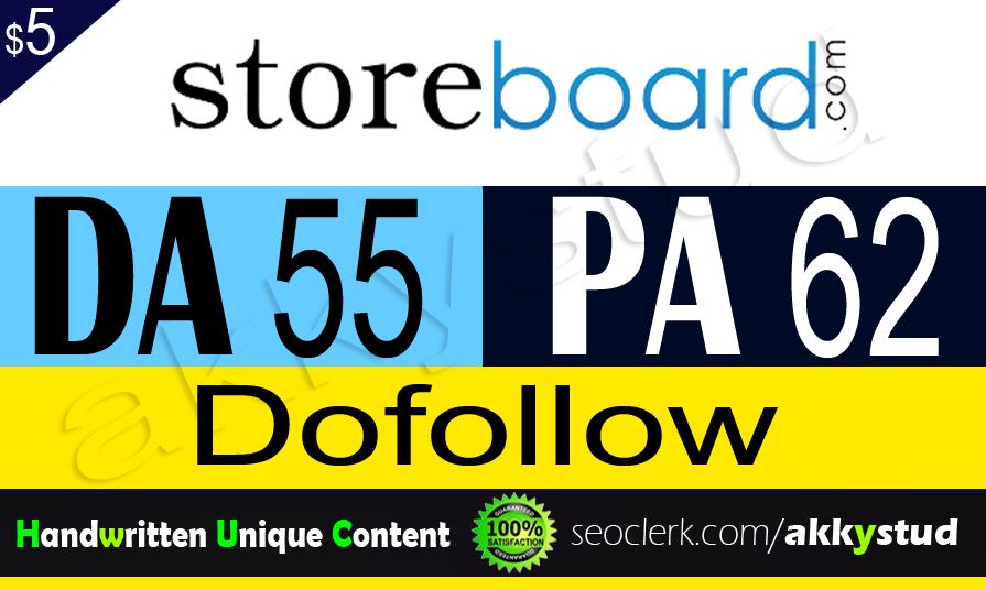 """write and publish unique guest post on """"Storeboard"""" DA-55"""