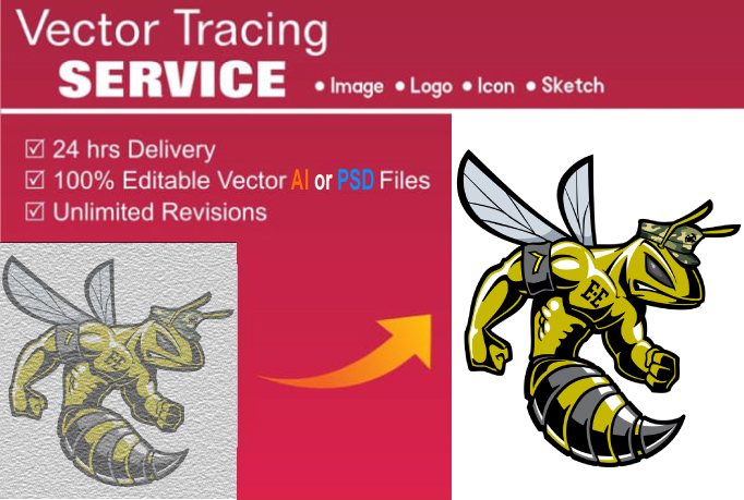 I Will Do Vector Tracing Logo For Redraw Any Images