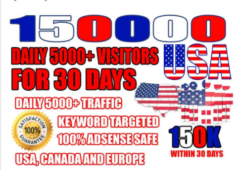 Send Real Website Targeted USA Traffic, Visitors, Promotion & GET ONE FREE