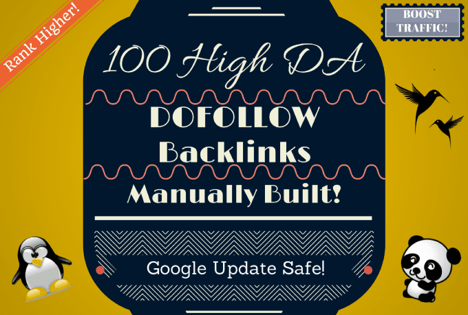 Build 50 Unique Pr10 Dofollow Backlinks On Da100 Sites SEO Service