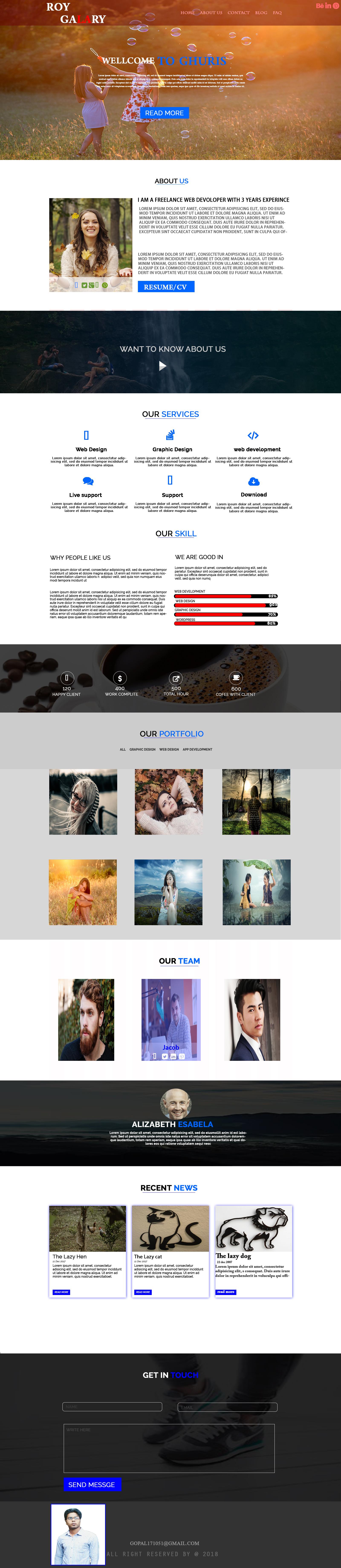 i creat a professional premium psd home page web design