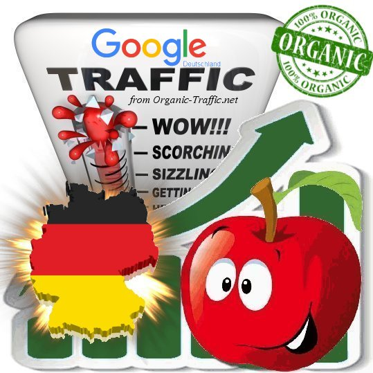 German Search Traffic from Google. de with your Keywords