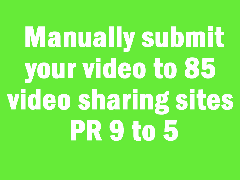 Manually submit your video to 85 video sharing sites ...