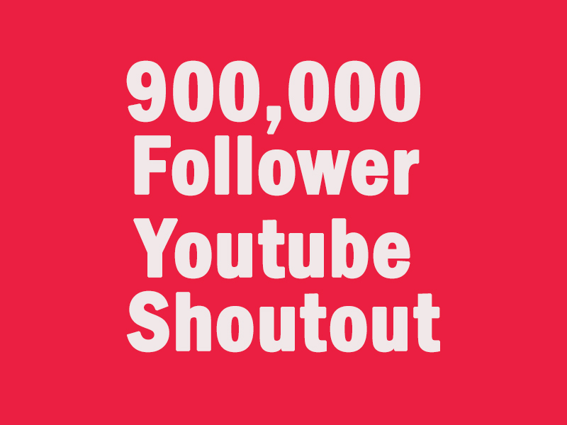 Shoutout to our 900k followers
