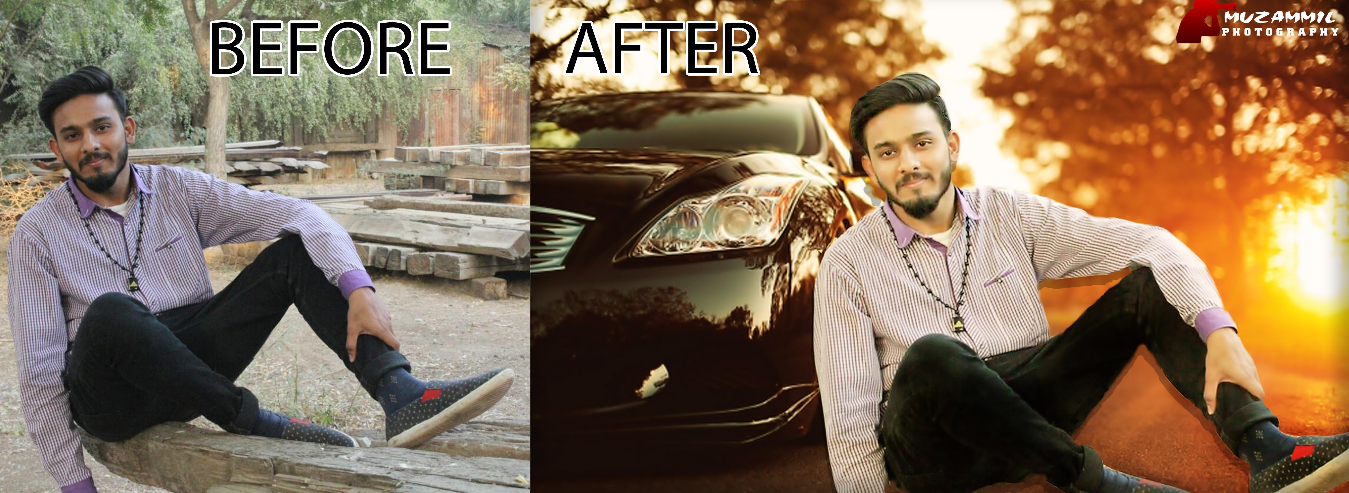 Do Professional Photo Retouching and change background