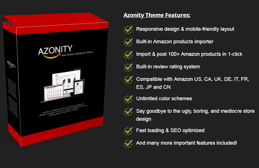 Install Azonity WP Theme - Ecommerce Affiliate Site