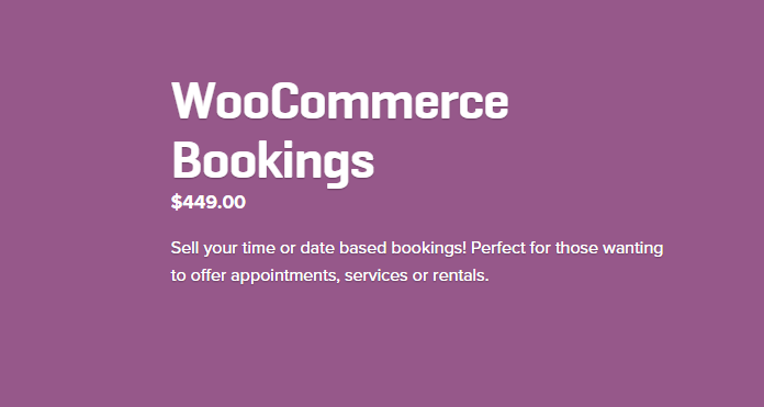 Woocommerce Bookings Extension