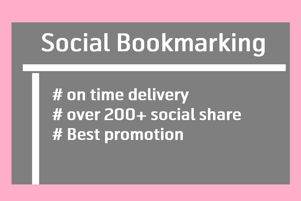 I'll do social bookmarking