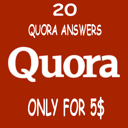 Promote website with HQ 20 Quora answers