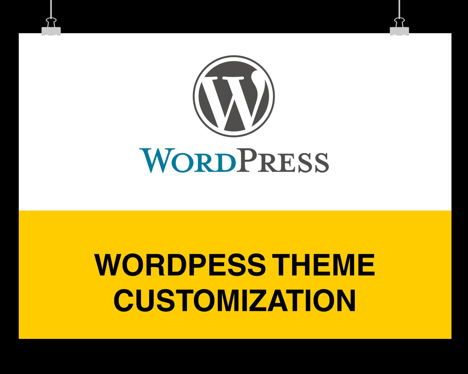WordPress theme customization - Expert