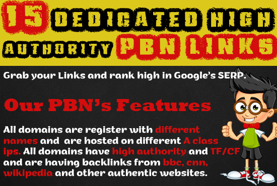 Rank Your Website Higher by Creating 15 High Authority Dedicated PBN Links