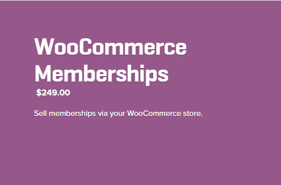 Woocommerce Memberships Extension