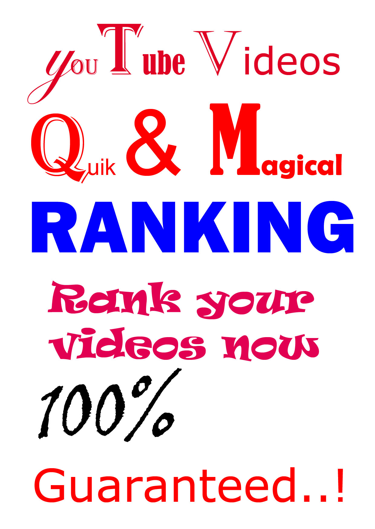 Instant YouTube video(s) RANKING for more views - A Massive video(s) promotion...!!!