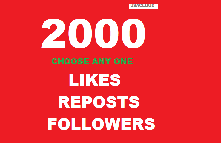 2000 Usa Followers Or Likes Or Repost Very Fast
