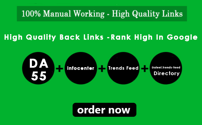 3 HQ DoFollow Backlinks DA 68 & 67