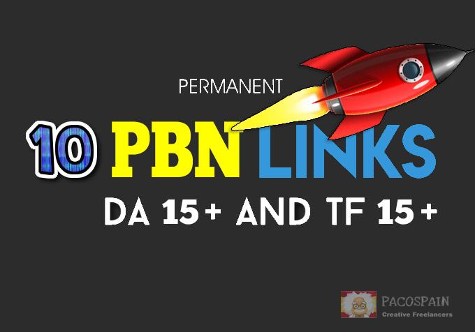 i will Manually create 10+ PBN Links - DA 15+ and TF 15+