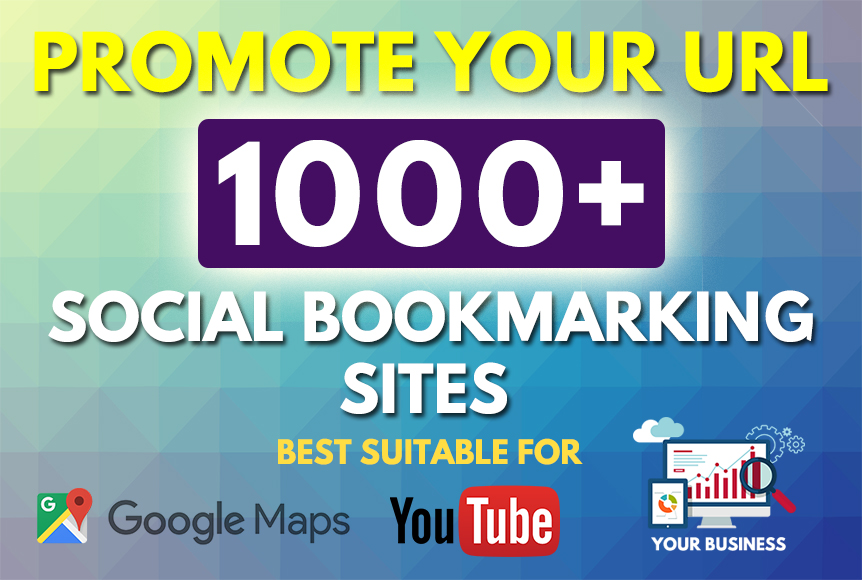 1000 HQ Social Bookmarks Backlinks for your Website,  Keyword and Youtube