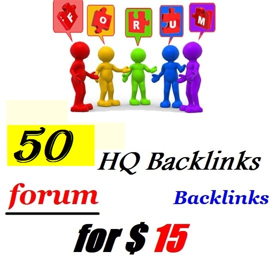 Provide you 50 Forum Post backlinks