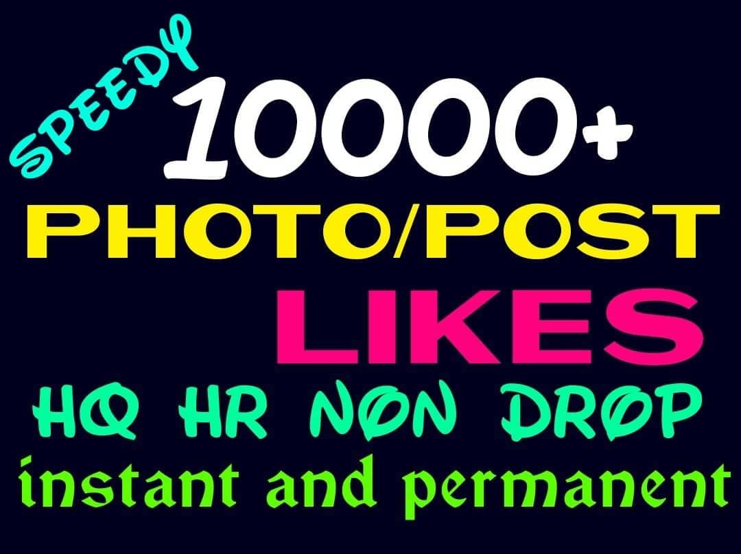 Add 10000+ Super Fast,HQ,Non Drop Social Post or Photo Promotion