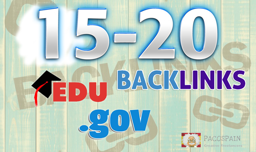 manually build 15-20. edu-. gov backlinks YouTube,  Amazon,  App. etc
