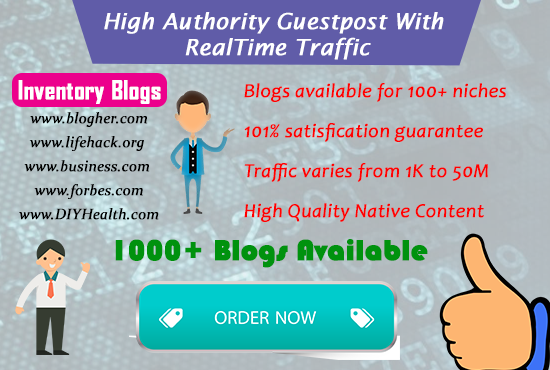 High Authority Guestpost With realtime traffic