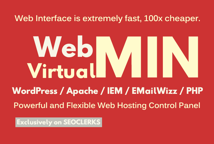 install virtualmin and webmin on your vps or dedicated server