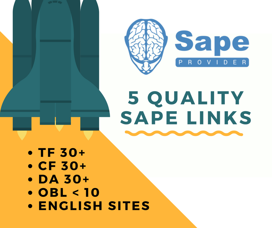 Will Build 5 Quality Sape Links, TF 30+ DA 30+