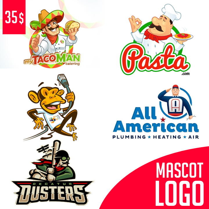 Professional Custom LOGO Design MASCOT Logo Cartoon LOGO