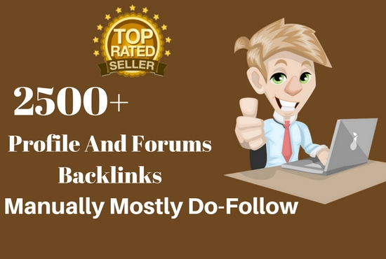 2500+ Profile And Forums Backlinks Dofollow