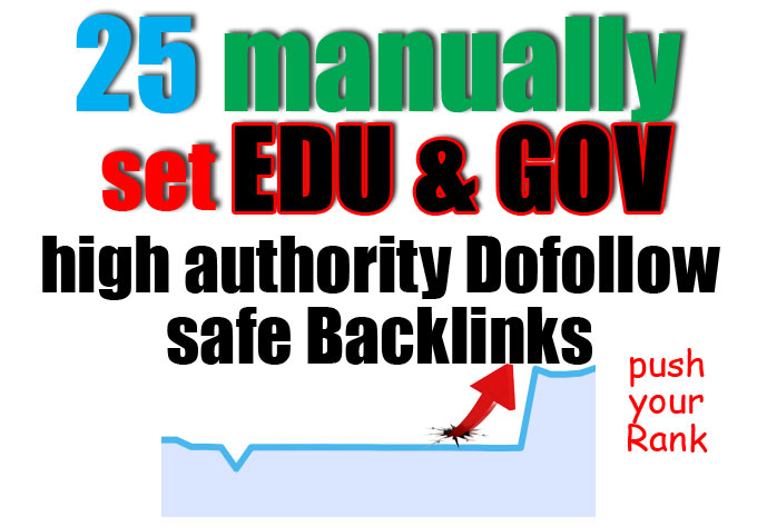 Build 25 high da pa edu and gov backlinks