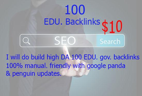 Provide 100 Edu Dofollow Backlink