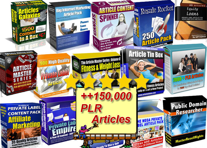 provide you +150,000 Plr Articles On Health Fitness & Many Other Niches