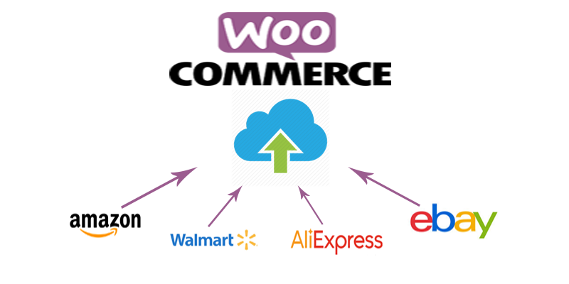 Import 110 products to your woocommerce store from Amazon,  Walmart,  Ebay or Aliexpress