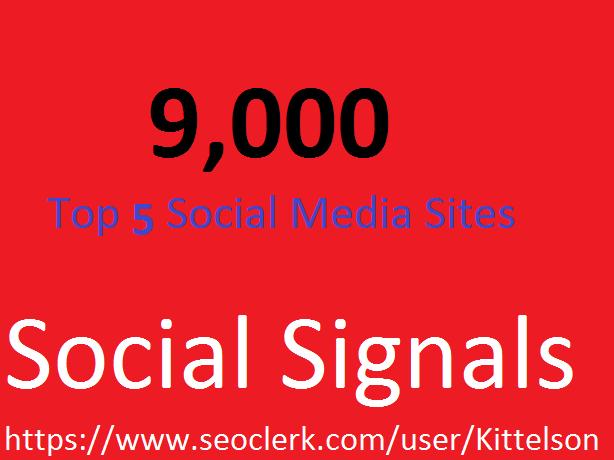 9,000 Social Signals Come From Top 5 Social Media Sites