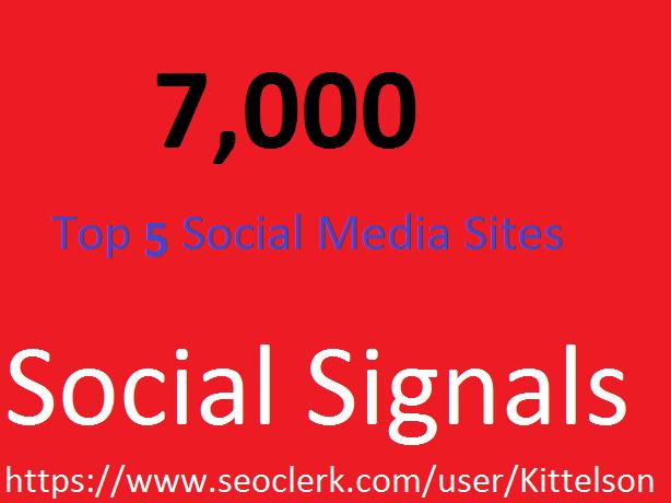7,000 Social Signals Come From Top 5 Social Media Sites