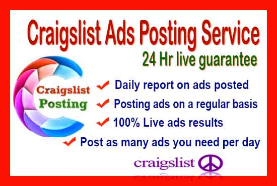 Craigslist ad posting in USA Sites 10