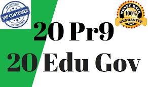 20 Pr9 + 20 Edu - Gov High Pr SEO Authority Backlinks -Rocket Your Google Ranking